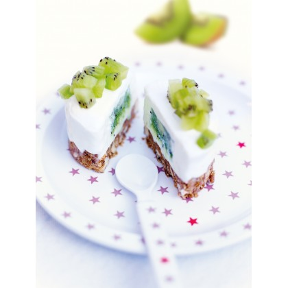 Cheesecake au cœur coulant de kiwi